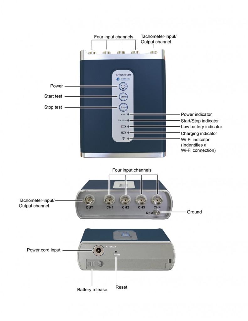 Spider-20动态信号分析仪和数据记录仪—美国晶钻最新产品