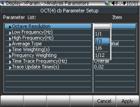 CoCo80的倍频程分析参数配置有哪些?