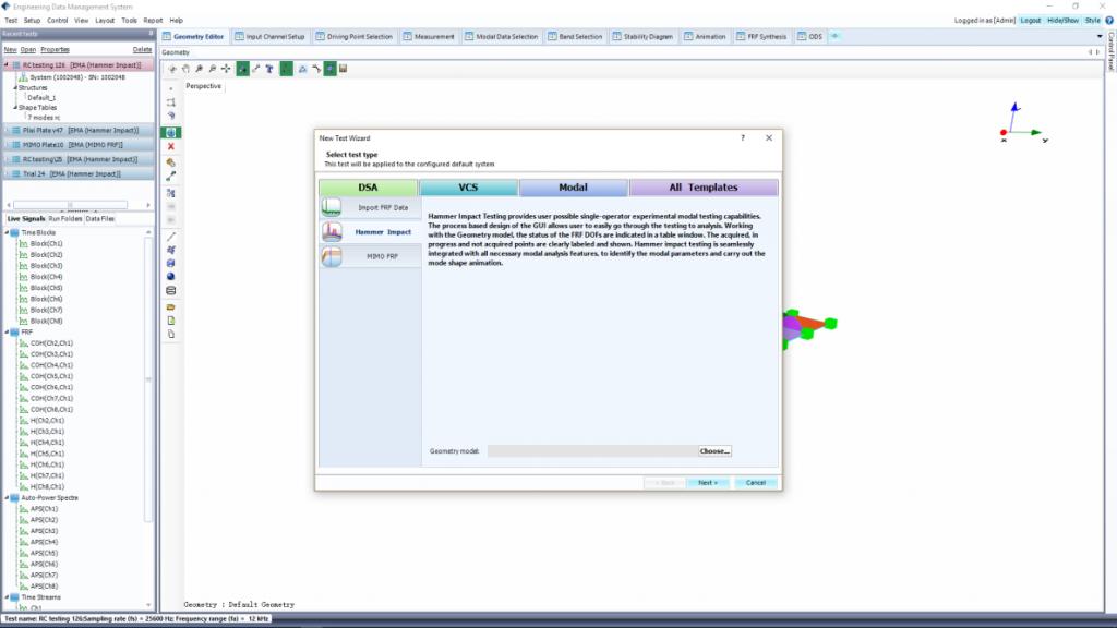 模态分析软件美国晶钻仪器EDM Modal – 高级模态分析(Advanced Modal Analysis)