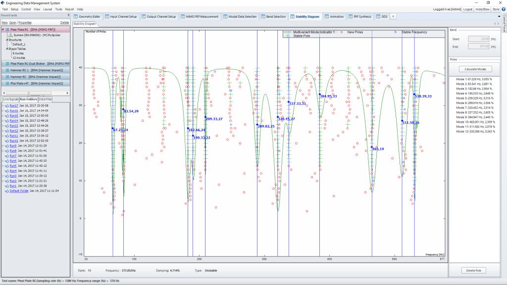 模态分析软件美国晶钻仪器EDM Modal – 标准模态分析(Standard Modal Analysis) 2