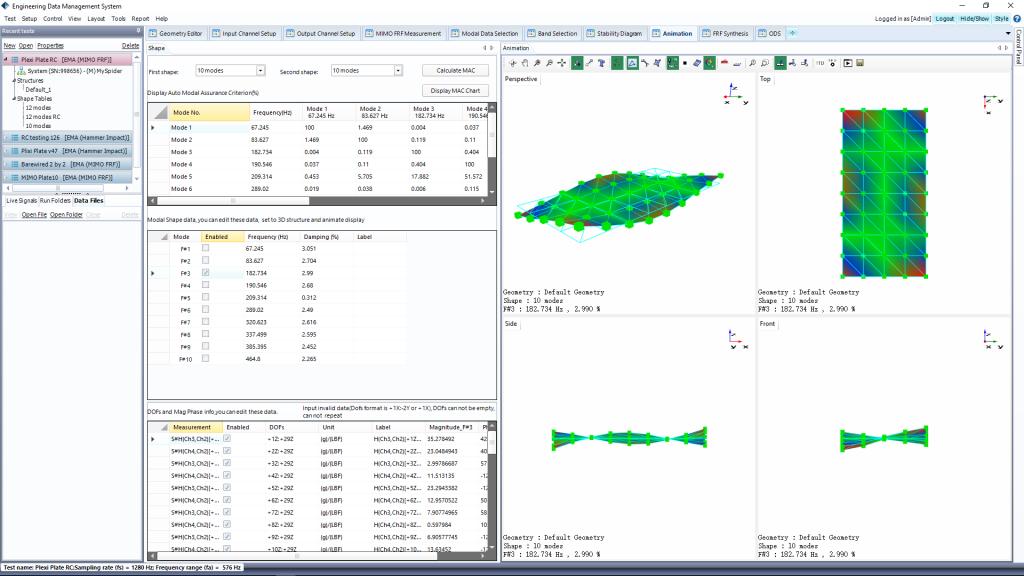 模态分析软件美国晶钻仪器EDM Modal – 标准模态分析(Standard Modal Analysis) 3