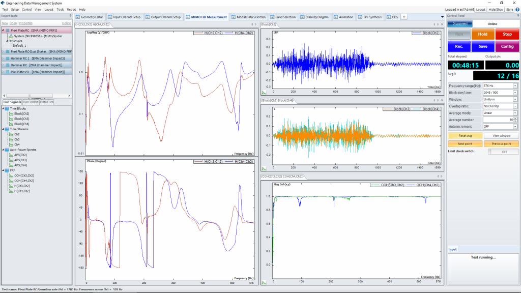 SIMO FRF模态测试(SIMO FRF Testing)