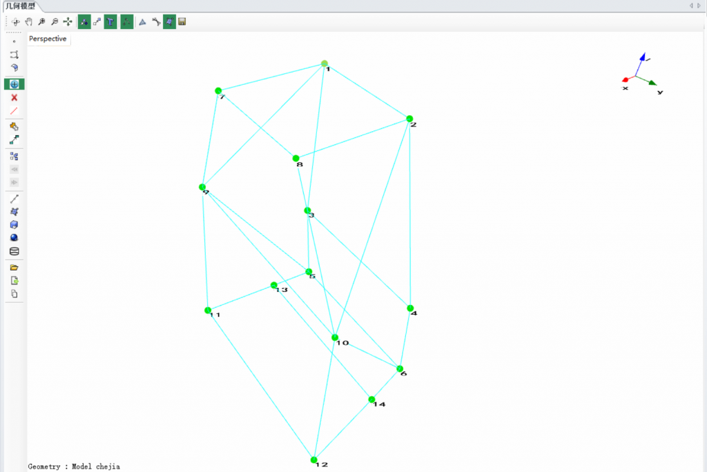 上海某大学使用EDM Modal模态分析软件与Spider-80X动态数据采集仪对车架进行模态实验 1