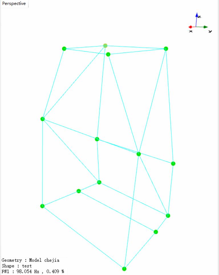 上海某大学使用EDM Modal模态分析软件与Spider-80X动态数据采集仪对车架进行模态实验 7