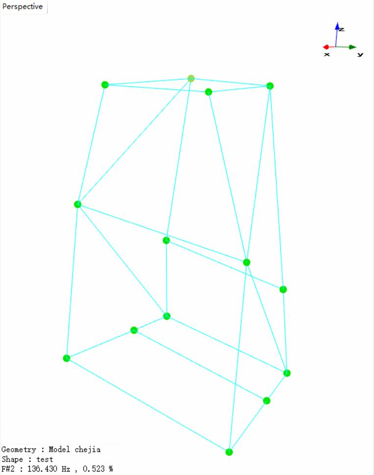 上海某大学使用EDM Modal模态分析软件与Spider-80X动态数据采集仪对车架进行模态实验 8