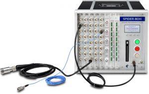 Spider-80SGi支持应力应变、IEPE传感器连接多物理量测量