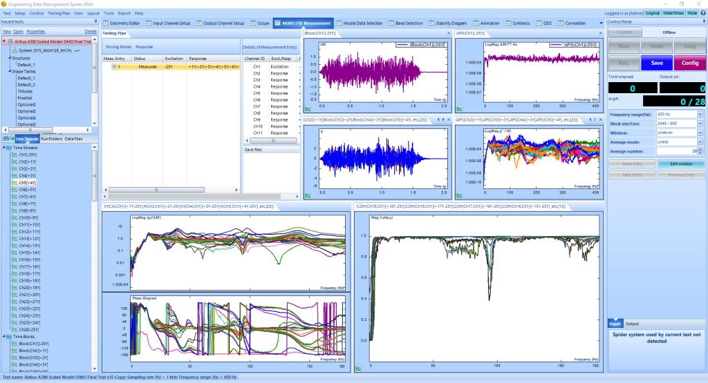 飞机模型模态实验分析与模态参数识别 3