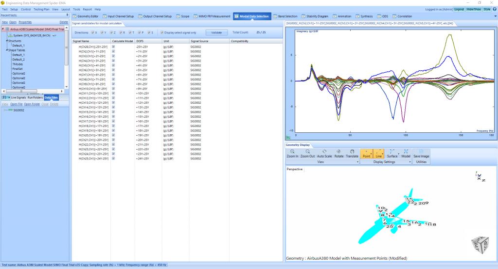 飞机模型模态实验分析与模态参数识别 4