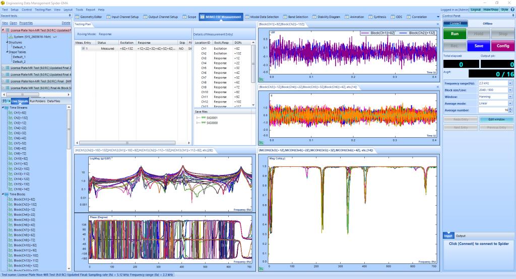 模态分析中常规FFT和使用多分辨率频谱技术FFT的比较 3