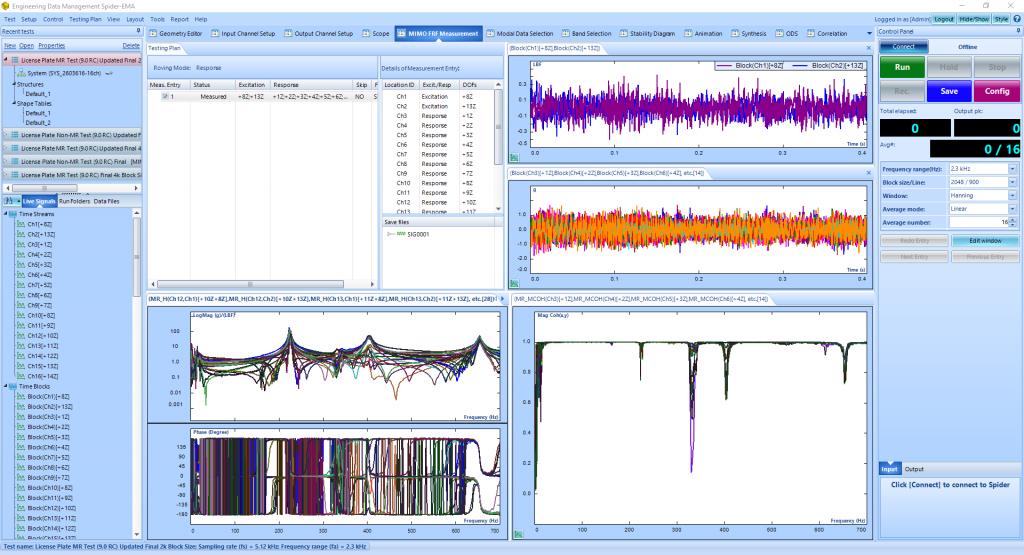 模态分析中常规FFT和使用多分辨率频谱技术FFT的比较 4
