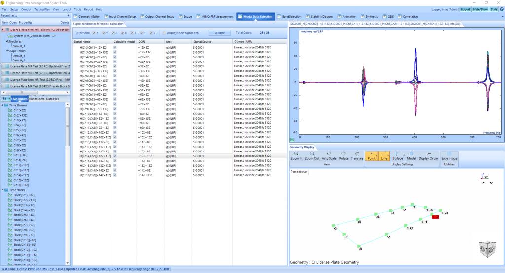模态分析中常规FFT和使用多分辨率频谱技术FFT的比较 5