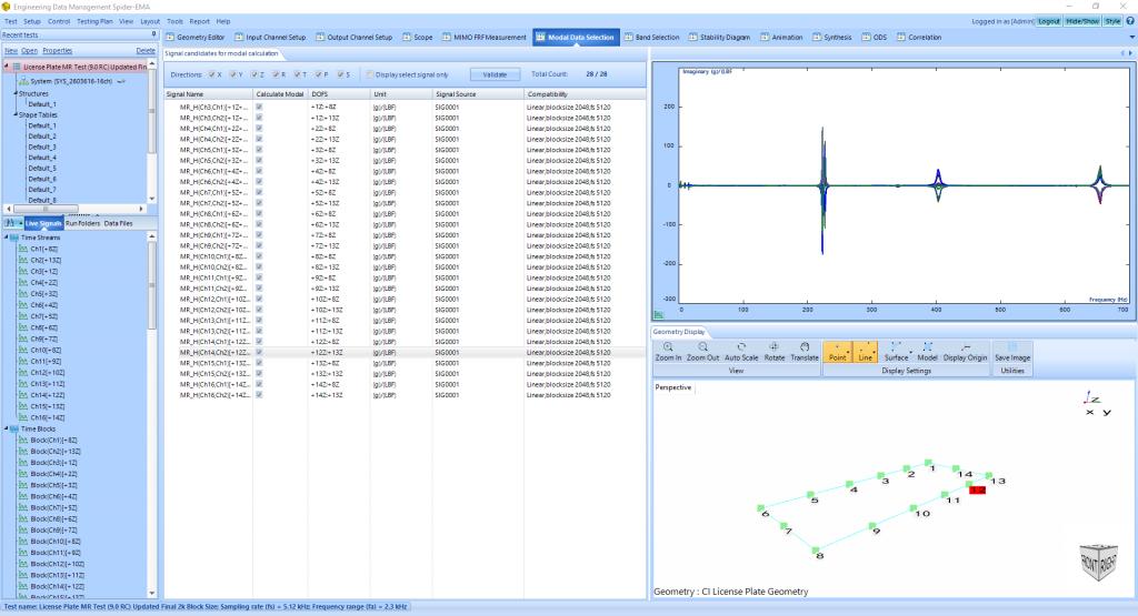 模态分析中常规FFT和使用多分辨率频谱技术FFT的比较 6