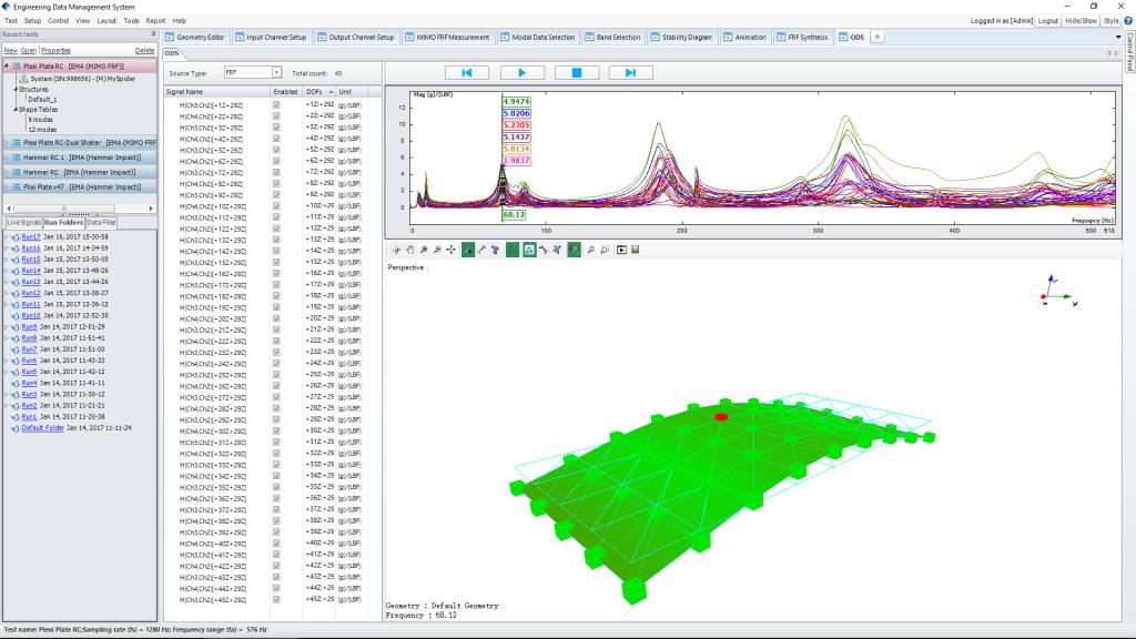 模态分析软件和模态测试系统美国晶钻仪器EDM Modal 4